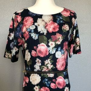 May and July Dresses - May and July Floral Zipper Dress